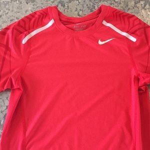 Red Nike dri fit shirt